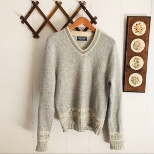 Vintage Wool Knit Sweater Made In USA